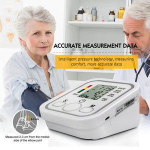 Health Care Household Professional Doctor's Digital Arm Blood Pressure Pulse Tonometer Meter Portable Accurate Home Use Monitor