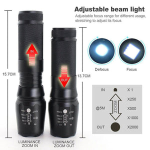 LED Tactical Military Flashlight