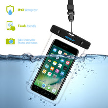 MPOW  Waterproof Transparent Phone Bag  w/ Strap for iPhones/Androids