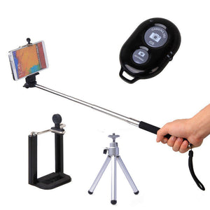 Bluetooth Selfie Stick & Tripod Combo Kit