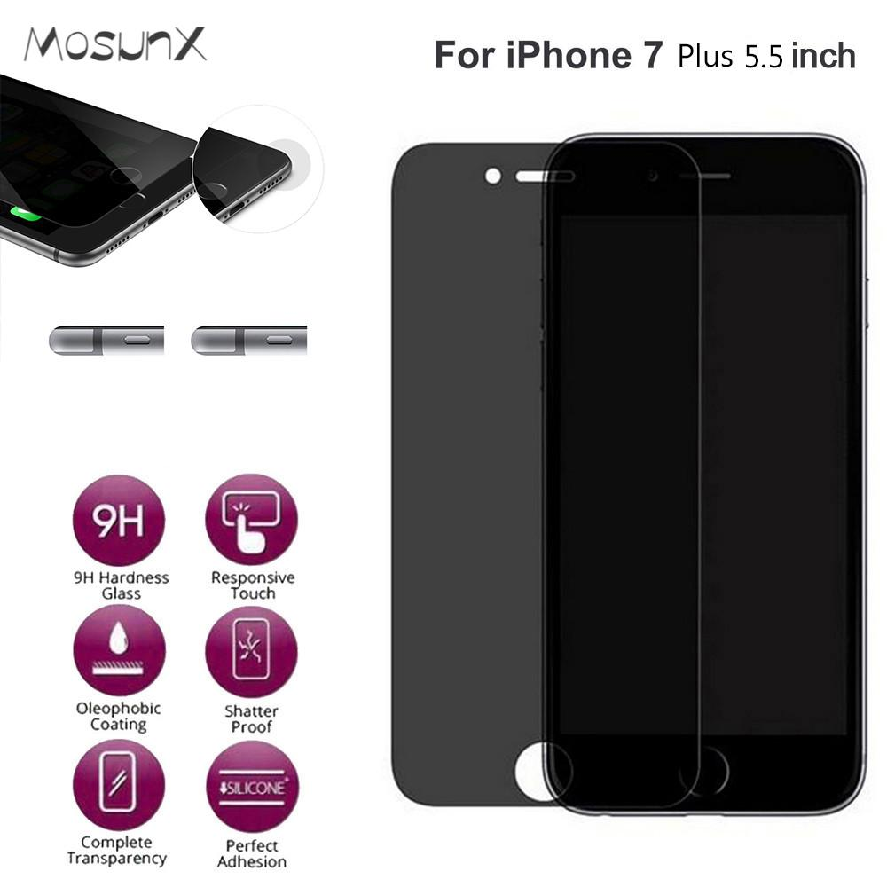 Anti-Spy Privacy Tempered Glass Screen Protector Film for iphone 7 plus 5.5 inch