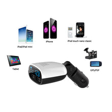 Universal 3.4A Dual USB Ports LED Screen Display Dual USB Car Charger Swing Head Design Car Charger for Smartphone Tablet PC