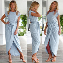 Tie Waist Casual Summer Dress