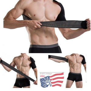 adjustable neoprene men sports belt bandage support weight lifting back support basketball shoulder pad brace protector