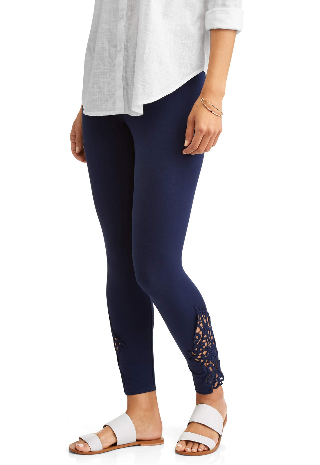 Women's Legging With Lace Inset Ankle