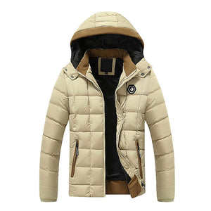 Cotton-Padded Thick Coat With Detachable Hood