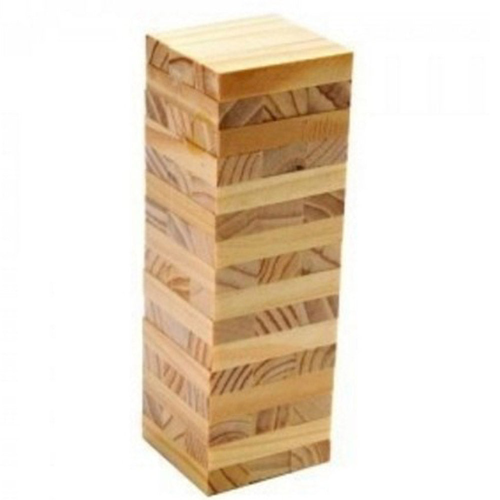 48 PCs Wooden Tower Jenga Game