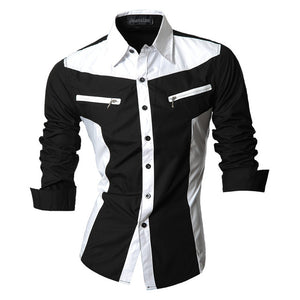 Casual Long Sleeve Dual Tone Shirt