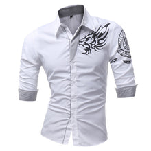 Casual Dragon Slim Lapel Shirt