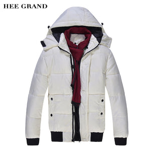 Hooded Thick Bodied Overcoat - With Scarf