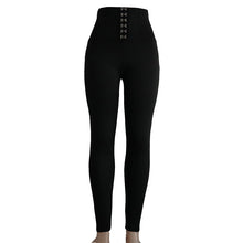 Black Hook High Waist Butt Lifting Leggings