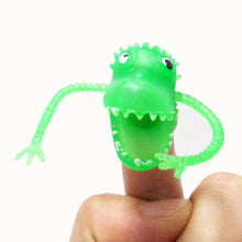 Colorful Plastic Mini Dinosaur Finger Toys