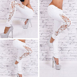 Skinny Lace Leg Jeans