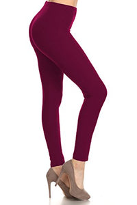 Ultra Soft Solid Fab Leggings - Plus Size