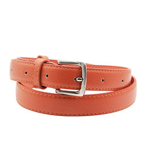 Maikun Womens Skinny Leather Belt Solid Color Pin Buckle Simple Waist Belts Mother's Day Gifts