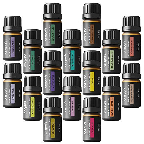 Aromatherapy Essential Oils Gift Set, 6 Bottles