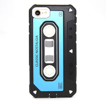 Vintage Cassette Hybrid Armor Case For iPhone 7 8 Plus Dual Layer Rubber TPU Hard PC Shockproof Cute Cover For iPhone 7 8/Plus