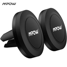MPOW 2PCS Universal Car Strong Magnetic Phone Mount Holder 360 Degree Rotatable Car Air Vent Mount for iPhone X etc Smart Phones