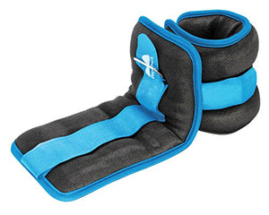 Ankle/Wrist Weights (1 Pair) with Adjustable Strap for Fitness (2lbs 3lbs 4lbs 6lbs 8lbs 10lbs)