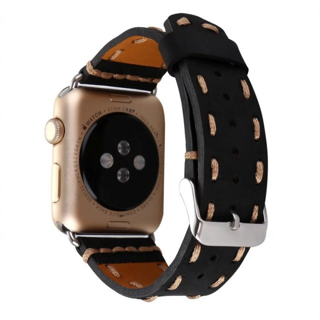 Retro Handmade Genuine Leather Strap for Apple Watch Series 3 2 1