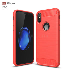 Silicone Ultra Thin 360 Protection Cover Soft  Cases For iPhone 7, 7 Plus,  X 10
