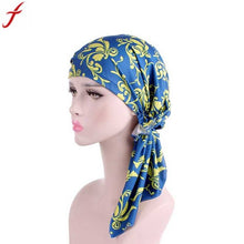 Women Floral Printed Long Tail  Headscarf/Wrap S