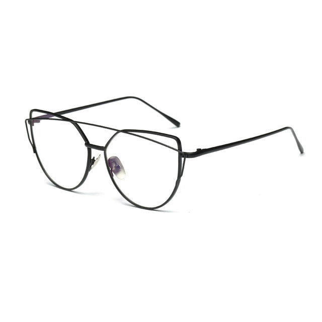 Twin-Beams Classic Clear Lens Cat Eye Glasses