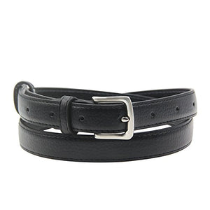 Womens Skinny Leather Solid Color Pin Buckle  Belts