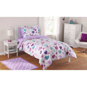 7 Piece Reversible Comforter and Matching Sheet Set