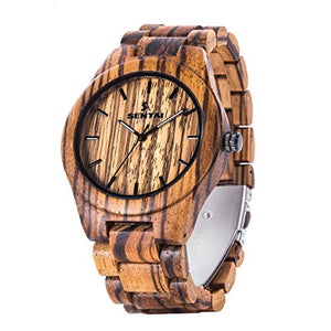 Men's Handmade Wooden Wrist Watch