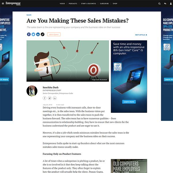 Are you Making these Sales Mistakes?
