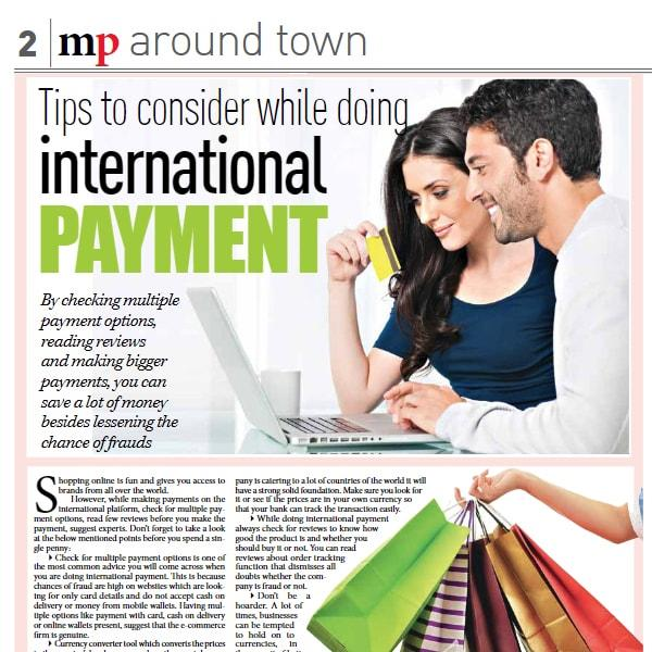 Tips to Consider while Doing International Payment