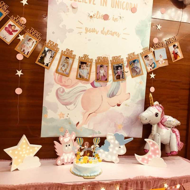 Nordic Ins Unicorn Shape Led Wall Lamp Children'S Room Creative Decoration Night Light Bedside Photo Decoration Props-14573