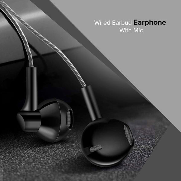 Wired Earbud Earphone With Mic-7896