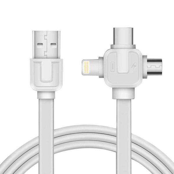 Three In One Creative Style Usb Data Cable (Apple, Android And Type-C)-12227