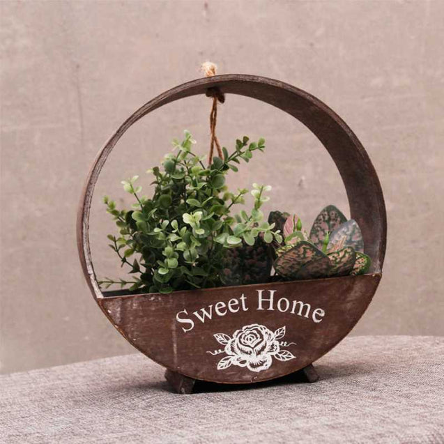 Decorative Round Wall Hanging Flower Pot- 14555