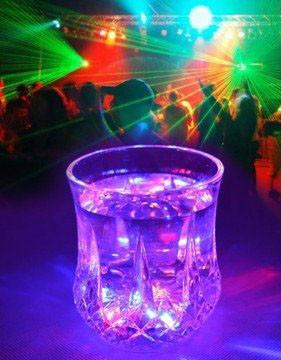 decorative, barware, LED colorful cup, rainbow inductive cup