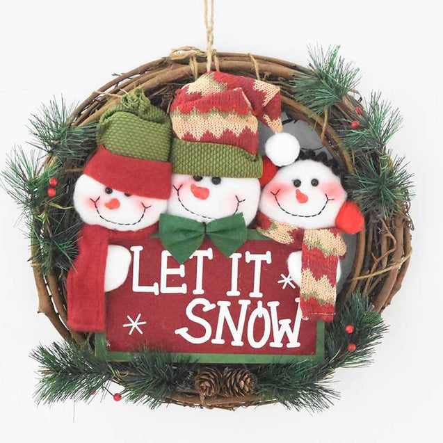 Santa Claus Snowman Christmas Home Decoration - 12946