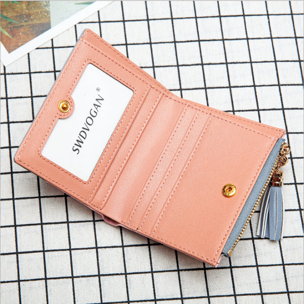 Cliff New Ladies Korean Wallet With Tassel Zipper