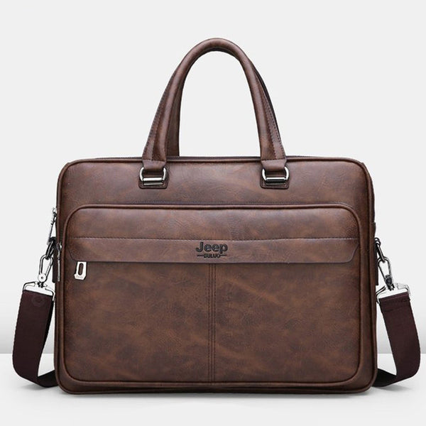 Jeep New Business Men'S Leather Bag