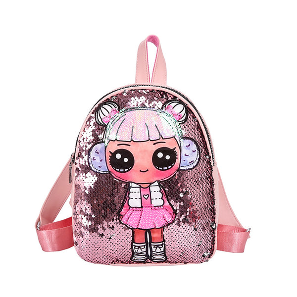 Sequins Beaded Kids Backpack Bag