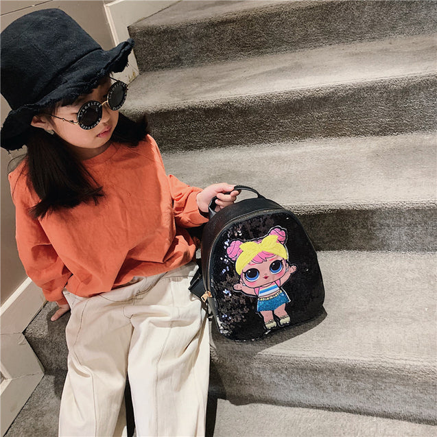 Qiao Sequins Beaded New Fashion Kids Shoulder Bag - 32536