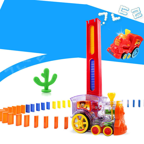 Kids Playing Domino Electric Moving Train Robot -12258
