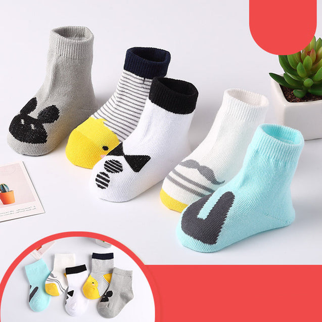 Cotton Unisex Socks (Pack Of 5)