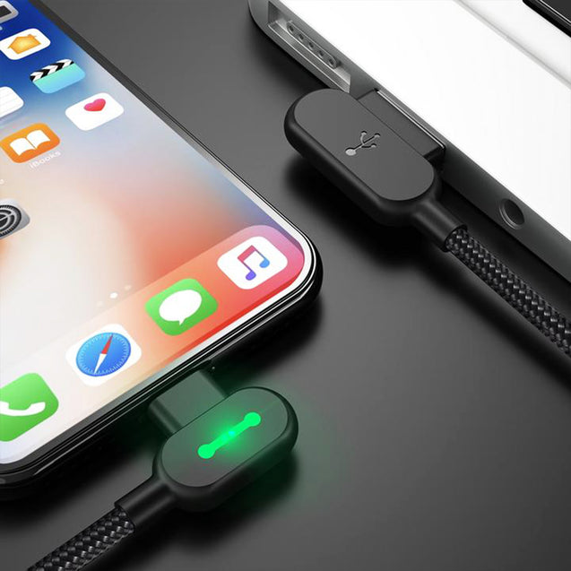 90 Degree Angeled Unbreakable Charging Cable -7728