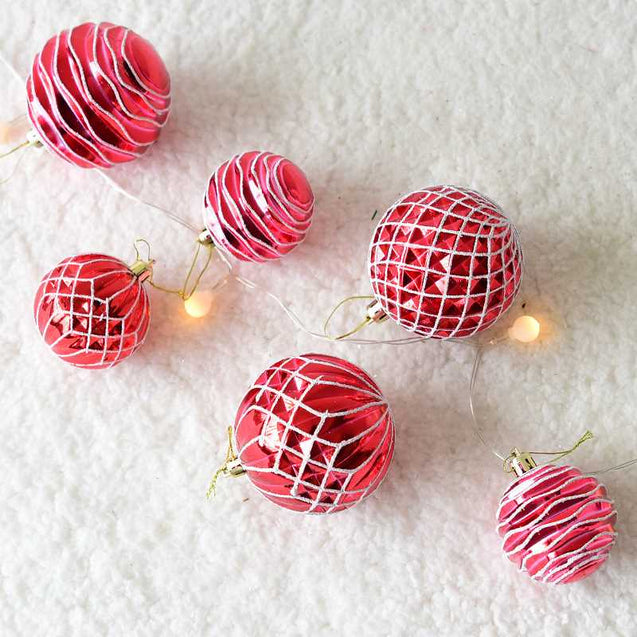 Hanging Painted Ball Christmas Tree Decoration Accessories -12942