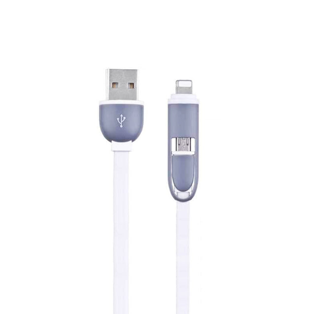USB Data Cable for Hassle-Free Charging and Transfer (2-in-1 Head, Apple and Android)-6451