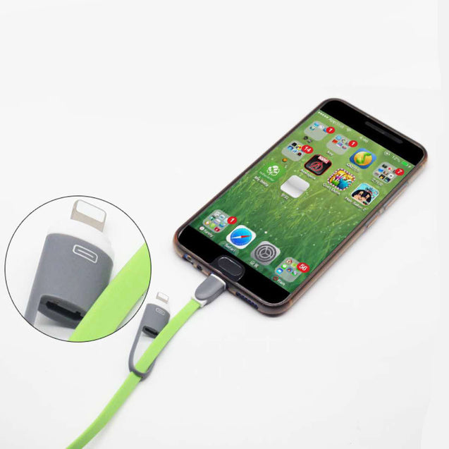 USB Data Cable for Hassle-Free Charging and Transfer (2-in-1 Head, Apple and Android)-6421