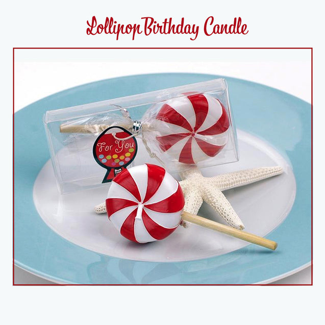 Lollipop Style Cake Decoration Birthday Candle - 13345