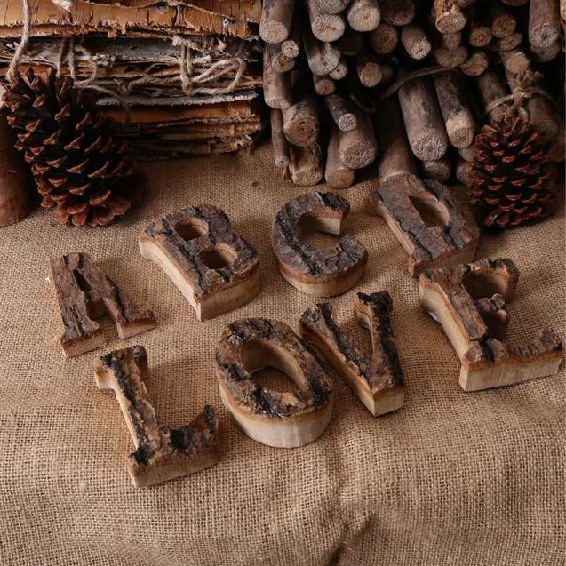 Vintage Wooden English Alphabets- 14657